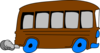 Brown School Bus Clip Art