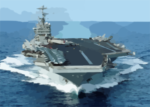 The Nuclear-powered Aircraft Carrier Uss George Washington (cvn 73) Transits The Atlantic Ocean Clip Art