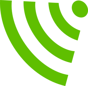 Green Wifi Symbol Clip Art