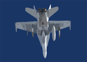 An F/a-18 Hornet Assigned To The Marauders Of Strike Fighter Squadron Eight Two (vfa-82) On Patrol Clip Art