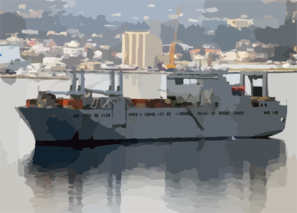 The Military Sealift Command (msc) Large, Medium-speed Roll-on/roll-off Ship Usns Bob Hope (t-akr 300) Sits At Anchorage In Souda Harbor. Clip Art