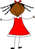 Girl In Red Dress Clip Art