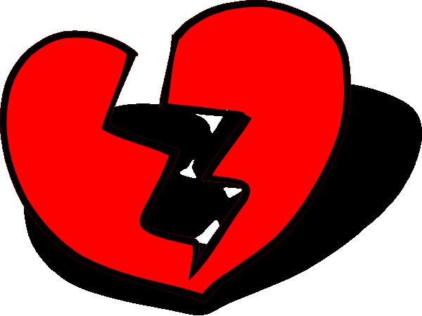 broken heart clip art at clker com vector clip art online royalty rh clker com broken heart with bandage clipart broken heart clipart black and white