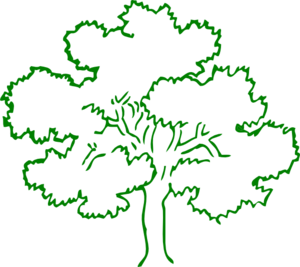 Green Oak Tree Clip Art