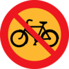 No Bicycles Roadsign Clip Art