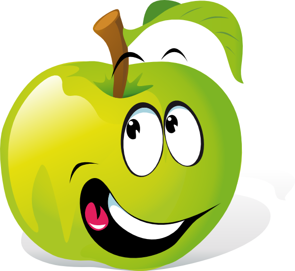 free smiling apple clipart - photo #25