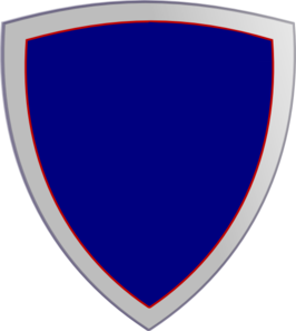 Plain Blue Security Shield Clip Art
