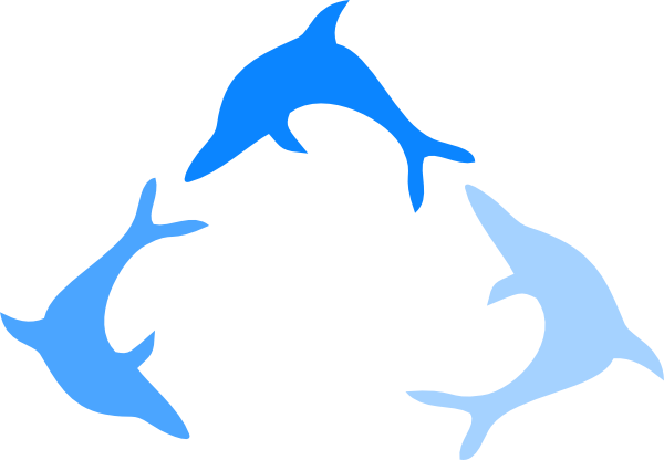 Blue Dolphin Logo Clip Art at Clker.com - vector clip art ...