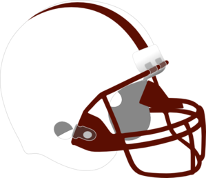 White And Dark Red Helmet Clip Art