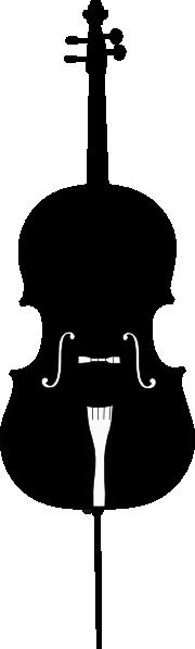 cello outline 2 clip art at clkercom vector clip art