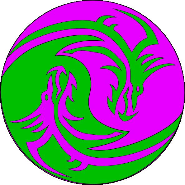 Green Purple Dragons Clip Art at Clker.com - vector clip ...