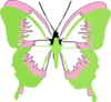 Courtney Butterfly Clip Art