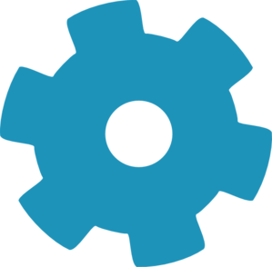 Blue Gear Wheel Clip Art