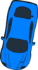Blue Car - Top View - 260 Clip Art