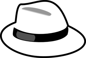 white hat clip art at clker com vector clip art online royalty rh clker com hat clip art images hat clip art pictures