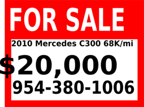 2010 Mercedes For Sale Clip Art