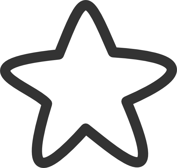 black and white star clip art -#main