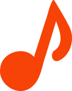 Orange Note Clip Art
