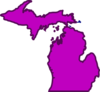 Michiganpurple Clip Art