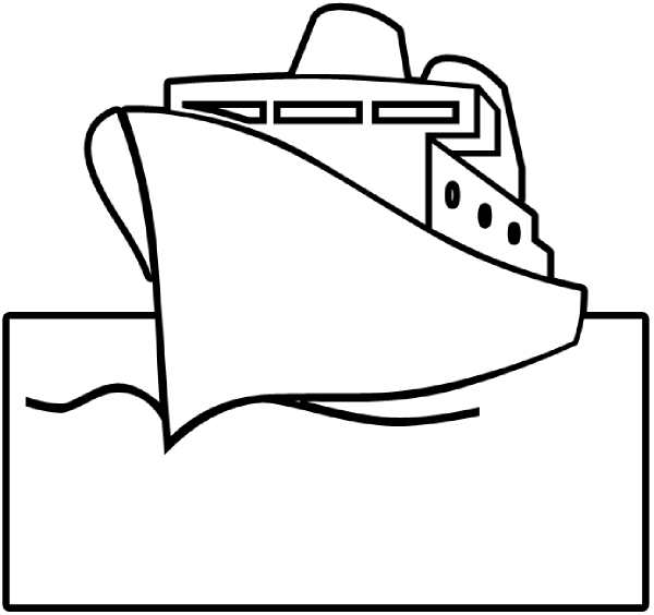 Ship Outline Clip Art at Clker.com - vector clip art ...