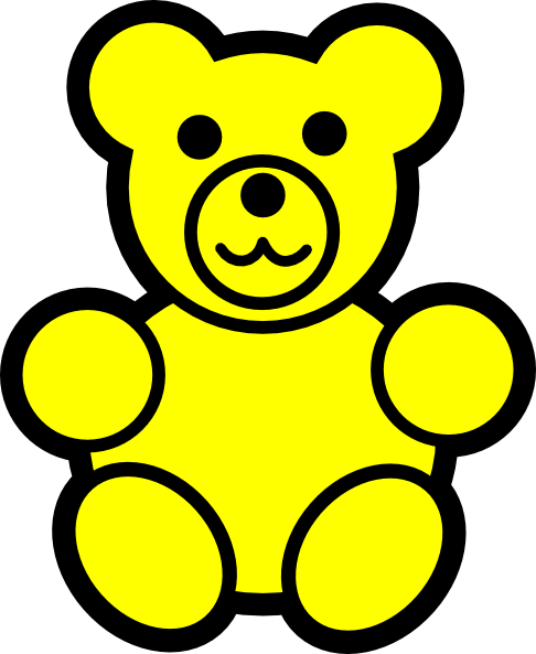 yellow bear clip art at clker com vector clip art online royalty rh clker com yellow clipart images yellow clipart star