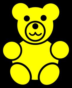 yellow bear clip art at clker com vector clip art online royalty rh clker com gummy bears clipart gummy bear clip art printable
