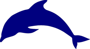 Blue Dolphine  Clip Art