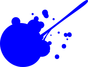 Blue Paint Splat  Clip Art