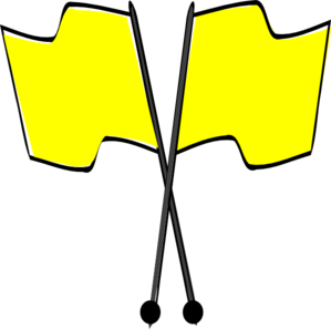 Crossed Yellow Flags Clip Art