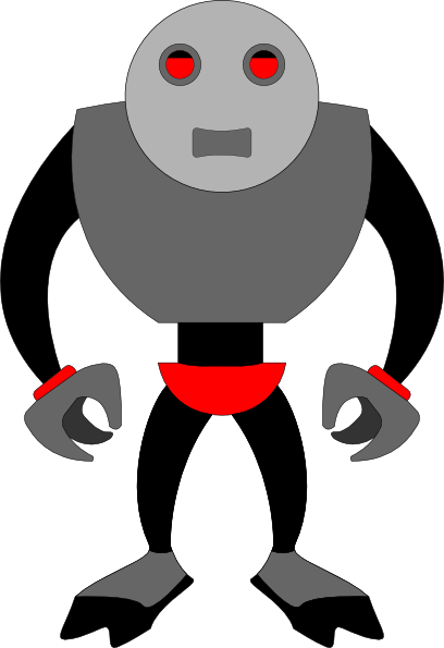 animated robot clipart - photo #24