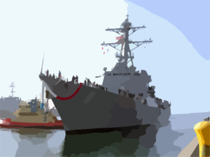 Uss Preble (ddg 88) Arrives For The First Time As Its Homeport Of San Diego Clip Art