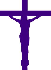 Jesus Christ On Cross Purple Clip Art