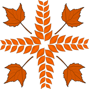 Leaves Cross Clip Art
