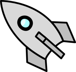 Coasting Rocket Clip Art
