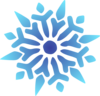 Snowflake Blue Radiant No Trim Clip Art