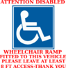 Wheelchair Car Sign Clip Art