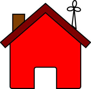 Red House And Wind Turbine Clip Art