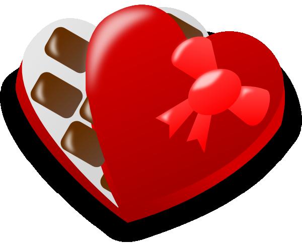 valentine chocolate box clip art at clker com vector clip art rh clker com Chocolate Heart Border Broken Heart