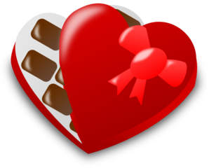 Valentine Chocolate Box Clip Art at Clker.com - vector ...