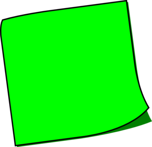 Green Sticky Note Clip Art