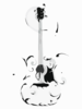 Swirly Guitar (multi) Clip Art