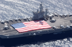 Uss Nimitz (cvn 68) And Carrier Air Wing Eleven (cvw-11) Personnel Participate In A Flag Unfurling Rehearsal Clip Art