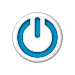 Blue Power Sign Button Clip Art