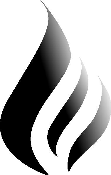 B&w Flame Logo Clip Art at Clker.com - vector clip art ...
