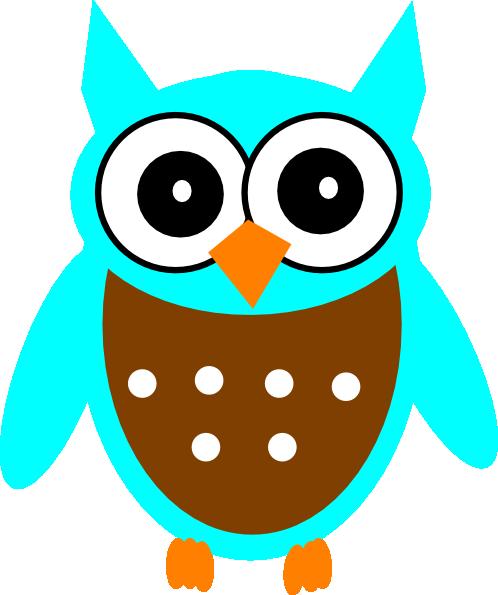 turquoise brown owl clip art at clker com vector clip art online rh clker com Brown Owl Clip Art Blue Owl Clip Art