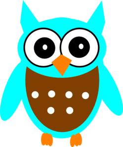 Turquoise Brown Owl Clip Art at Clker.com - vector clip ...