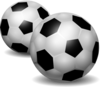 Pair Of Footballs Clip Art