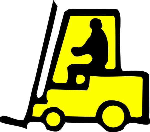 Forklift Sign Clip Art at Clker.com - vector clip art ...