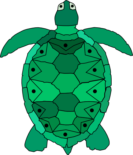 Teal Sea Turtle Clip Art at Clker.com - vector clip art ...