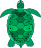 Teal Sea Turtle Clip Art